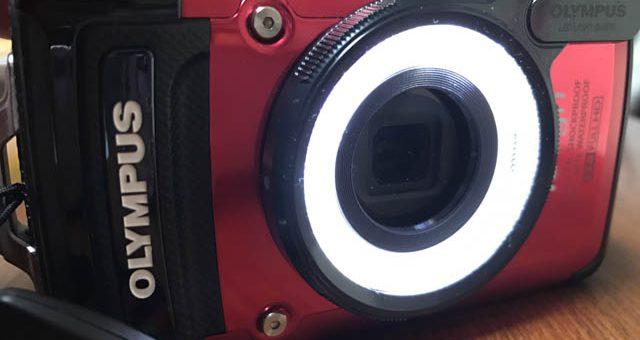 OLYMPUS TG-2 に LEDライトガイド LG-1 を装着