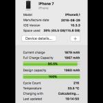iPhoneの充電サイクルカウントを調べる