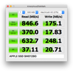 Mac mini 2014のストレージ速度