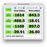 MacBook mini (Early 2015) のストレージ速度