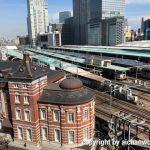 KITTEの屋上から東京駅をみる