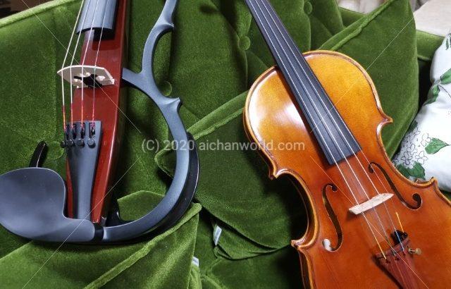 [バイオリン] アコースティックバイオリン+ミュート利用、YAMAHAサイレントバイオリンの音の大きさを数字で比較する
